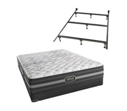 Simmons Beautyrest Full Size Luxury Extra Firm Comfort Mattress and Box Spring Sets With Frame Calista Full XF Low Pro Set with Frame N