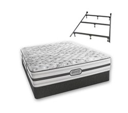 Simmons Beautyrest Queen Size Luxury Extra Firm Comfort Mattress and Box Spring Sets With Frame Astrid Queen XF Std Set with Frame N