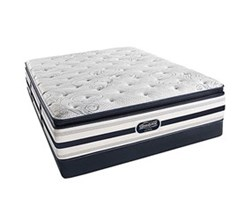 Simmons Beautyrest Full Size Luxury Plush Pillow Top Comfort Mattress and Box Spring Sets Ford Full PPT Low Pro Set