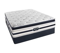 Simmons Beautyrest King Size Luxury Plush Pillow Top Comfort Mattress and Box Spring Sets Ford King PPT Std Set