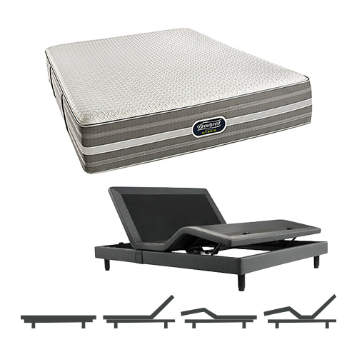 simmons beautyrest full size luxury extra firm comfort mattress and adjustable bases - Beautyrest Recharge Hybrid