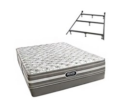 Simmons Beautyrest Full Size Luxury Extra Firm Comfort Mattress and Box Spring Sets With Frame simmons salem full xf low pro set with frame