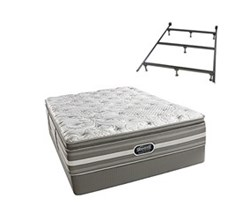 Simmons Beautyrest King Size Luxury Firm Pillow Top Comfort Mattress and Box Spring Sets With Frame simmons salem king lfpt std set with frame
