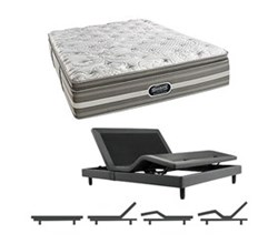 Simmons Beautyrest King Size Luxury Plush Pillow Top Comfort Mattress and Adjustable Bases simmons salem king ppt mattress w base
