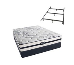 Simmons Beautyrest Queen Size Luxury Firm Comfort Mattress and Box Spring Sets With Frame N Hanover Queen LF Std Set with Frame N