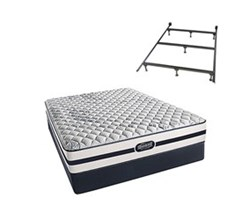 Simmons Beautyrest King Size Luxury Firm Comfort Mattress and Box Spring Sets With Frame N Hanover King F Std Set with Frame N