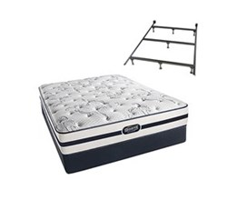 Simmons Beautyrest King Size Luxury Plush Comfort Mattress and Box Spring Sets With Frame N Hanover King PL Std Set with Frame N
