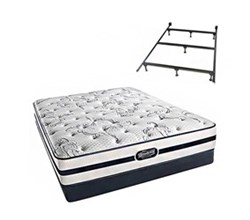 Simmons Beautyrest King Size Luxury Plush Comfort Mattress and Box Spring Sets With Frame N Hanover King PL Low Pro Set with Frame N