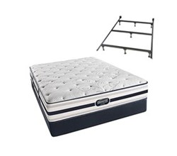 Simmons Beautyrest King Size Luxury Firm Comfort Mattress and Box Spring Sets With Frame simmons fair lawn king lf std set with frame
