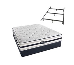 Simmons Beautyrest King Size Luxury Plush Comfort Mattress and Box Spring Sets With Frame simmons fair lawn king pl std set with frame