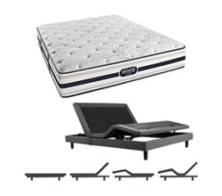 Simmons Beautyrest King Size Luxury Plush Comfort Mattress and Adjustable Bases simmons fair lawn king pl mattress w base