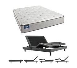Simmons Beautyrest King Size Luxury Plush Pillow Top Comfort Mattress and Adjustable Bases Cadosia King PET Mattress w Base N