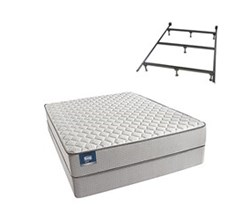 Simmons Beautyrest Queen Size Luxury Firm Comfort Mattress and Box Spring Sets With Frame Cadosia Queen F Std Set Split With Frame N