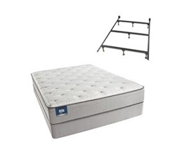 Simmons Beautyrest Queen Size Luxury Plush Pillow Top Comfort Mattress and Box Spring Sets With Frame Cadosia Queen PET Std Set Split With Frame N
