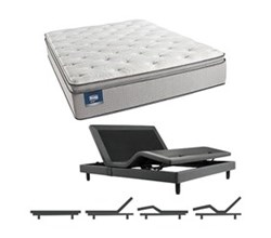 Simmons Beautyrest Queen Size Luxury Firm Pillow Top Comfort Mattress and Adjustable Bases simmons chickering queen lfpt mattress w base