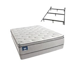 Simmons Beautyrest King Size Luxury Firm Pillow Top Comfort Mattress and Box Spring Sets With Frame simmons chickering king lfpt low pro set with frame