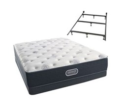 Simmons Beautyrest California King Size Luxury Plush Comfort Mattress and Box Spring Sets With Frame simmons beautyrest silver 500 pl