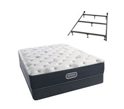 Simmons Beautyrest Full Size Luxury Plush Comfort Mattress and Box Spring Sets With Frame simmons beautyrest silver 500 pl