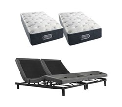Simmons Beautyrest King Size Luxury Firm Comfort Mattress and Adjustable Bases silver 600 extra firm split king size mattress and adjustable base