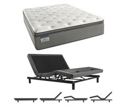 Simmons Beautyrest Queen Size Luxury Plush Pillow Top Comfort Mattress and Adjustable Bases beautysleep 450 plush pillow top queen size mattress and adjustable base