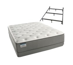 Simmons Beautyrest Queen Size Luxury Firm Comfort Mattress and Box Spring Sets With Frame beautysleep 400 luxury firm queen size mattress and low profile box spring set with bed frame