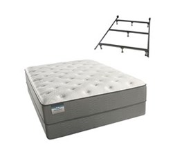 Simmons Beautyrest King Size Luxury Firm Comfort Mattress and Box Spring Sets With Frame simmons beautysleep 400 lf