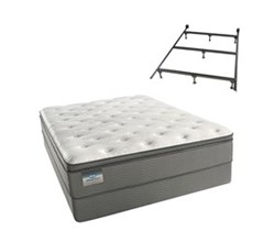 Simmons Beautyrest Full Size Luxury Firm Pillow Top Comfort Mattress and Box Spring Sets With Frame beautysleep 400 luxury firm pillow top full size mattress and standard box spring set with frame