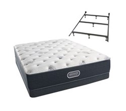 Simmons Beautyrest Twin Size Luxury Plush Comfort Mattress and Box Spring Sets With Frame simmons beautyrest silver 600 pl