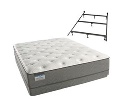 Simmons Beautyrest California King Size Luxury Plush Comfort Mattress and Box Spring Sets With Frame simmons beautysleep 300 pl