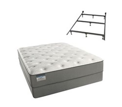Simmons Beautyrest Twin Size Luxury Plush Comfort Mattress and Box Spring Sets With Frame beautysleep 300 plush twinxl size mattress and standard box spring set with bed frame