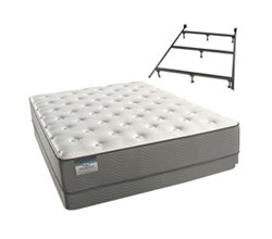 Simmons Beautyrest Twin Size Luxury Plush Comfort Mattress and Box Spring Sets With Frame simmons beautysleep 200 pl