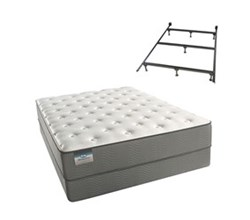 Simmons Beautyrest Twin Size Luxury Plush Comfort Mattress and Box Spring Sets With Frame beautysleep 200 plush twinxl size mattress and standard box spring set with bed frame