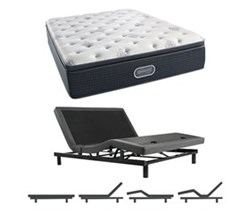 Simmons Beautyrest King Size Luxury Firm Pillow Top Comfort Mattress and Adjustable Bases simmons beautyrest silver 700 lfpt