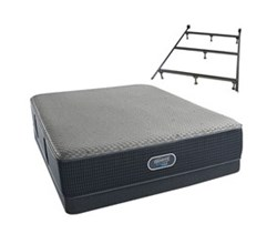 simmons queen size extra firm mattress low profile box springs set with frame. Black Bedroom Furniture Sets. Home Design Ideas
