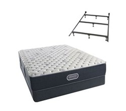 Simmons Beautyrest Queen Size Luxury Extra Firm Comfort Mattress and Box Spring Sets With Frame simmons beautyrest silver 800 xf