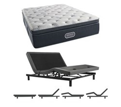 Simmons Beautyrest King Size Luxury Firm Pillow Top Comfort Mattress and Adjustable Bases simmons beautyrest silver 900 lfpt