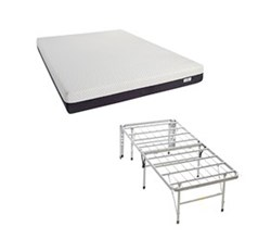 Simmons Beautyrest Memory Foam Mattresses And 2 In 1 Bed Frame  beautysleep 8 inch plush gel foam mattress and 2 in 1 base