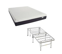 Simmons Beautyrest Memory Foam Mattresses And 2 In 1 Bed Frame  beautysleep 10 inch plush gel foam mattress and 2 in 1 base