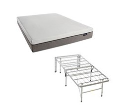 Simmons Beautyrest Memory Foam Mattresses And 2 In 1 Bed Frame  beautyrest st 10 inch memory foam mattress and 2 in 1 base