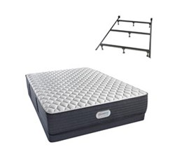 Simmons Beautyrest Full Size Luxury Extra Firm Comfort Mattress and Box Spring Sets With Frame simmon spring grove 13 inch extra firm