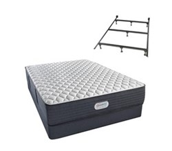 Simmons Beautyrest California King Size Luxury Extra Firm Comfort Mattress and Box Spring Sets With Frame simmons spring grove 13 inch extra firm