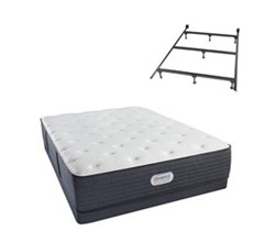 Simmons Beautyrest King Size Luxury Firm Comfort Mattress and Box Spring Sets With Frame simmons spring grove 14 inch luxury firm