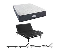 Simmons Beautyrest Twin Size Luxury Plush Comfort Mattress and Adjustable Bases simmons spring grove 14 inch plush
