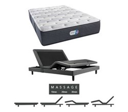 Simmons Beautyrest Twin Size Luxury Plush Comfort Mattress and Adjustable Bases simmons haven pines 14 inch plush twinxl size mattress adjustable base with massage feature