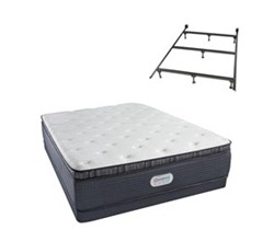 Simmons Beautyrest Twin Size Luxury Firm Pillow Top Comfort Mattress and Box Spring Sets With Frame simmons spring grove 15 inch firm pillow top