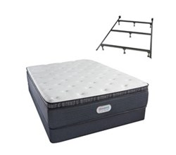 Simmons Beautyrest Twin Size Luxury Plush Pillow Top Comfort Mattress and Box Spring Sets With Frame simmons spring grove 15 inch plush pillow top