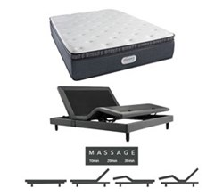 Simmons Beautyrest Mattress and Adjustable Base Bundles simmons spring grove 15 inch firm pillow top