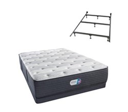 Simmons Beautyrest Full Size Luxury Extra Firm Comfort Mattress and Box Spring Sets With Frame simmons haven pines 14 inch luxury firm