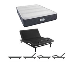 Simmons Beautyrest Mattress and Adjustable Base Bundles simmons crestridge hybrid 13 inch plush