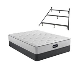 Simmons Beautyrest Queen Size Luxury Firm Mattress and Boxspring Sets With Bed Frame beautyrest br800 medium